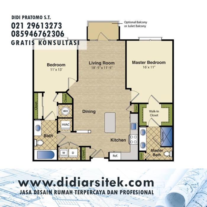 Jasa Desain Rumah 2D di Kemang Pratama