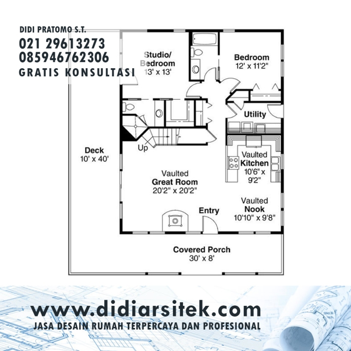 Jasa Desain Rumah 2D di Jakarta Pusat
