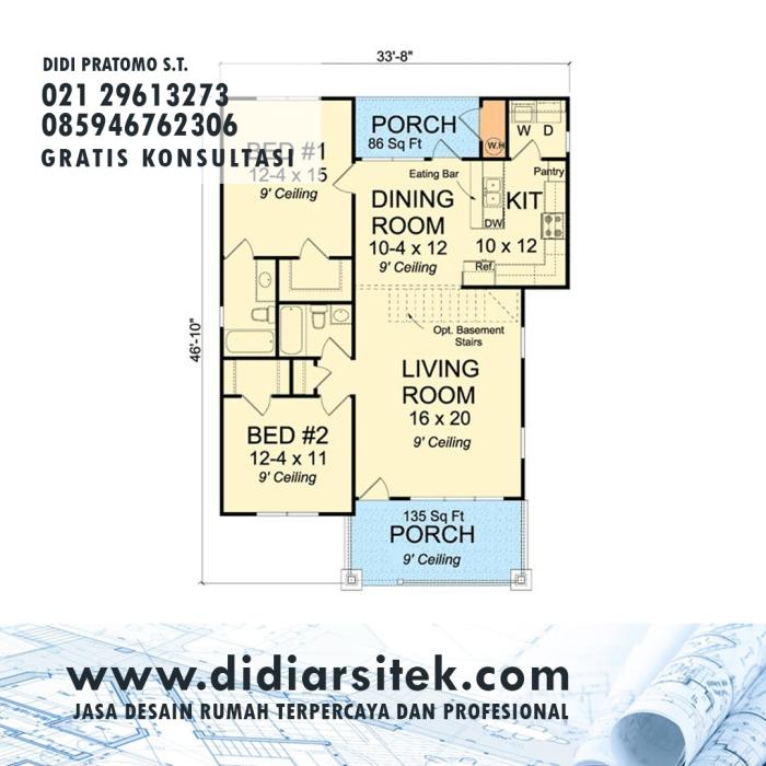 Jasa Desain Rumah 2D di Jakarta Selatan