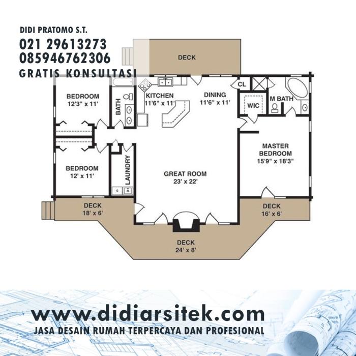 Jasa Desain Rumah 2D di Jakarta Utara